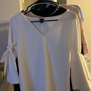 S Ann Taylor Blouse with Tie Sleeves